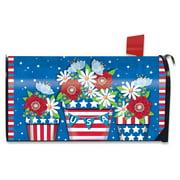 American Planter Patriotic Magnetic Mailbox Cover Primitive Briarwood Lane