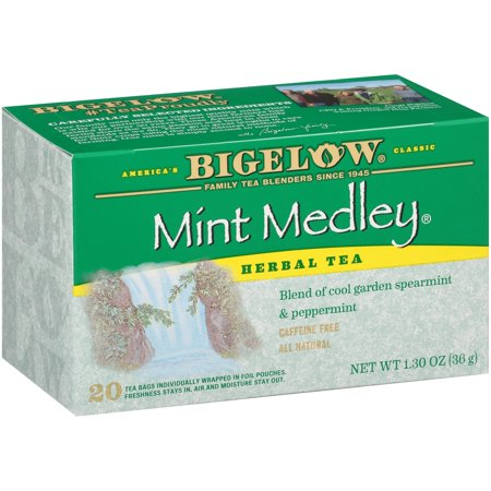 Rosemary Mint Bath Tea ((3 Boxes) Bigelow Mint Medley All Natural Caffeine Free Herb Tea Bags, 20ct)