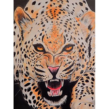 Jungle Pod (The Prowl by Ed Capeau 18x12 Art Print Poster   Wild Cat Rockabilly Tattoo Art Welcome To The Jungle Tiger Cougar Lion POD )