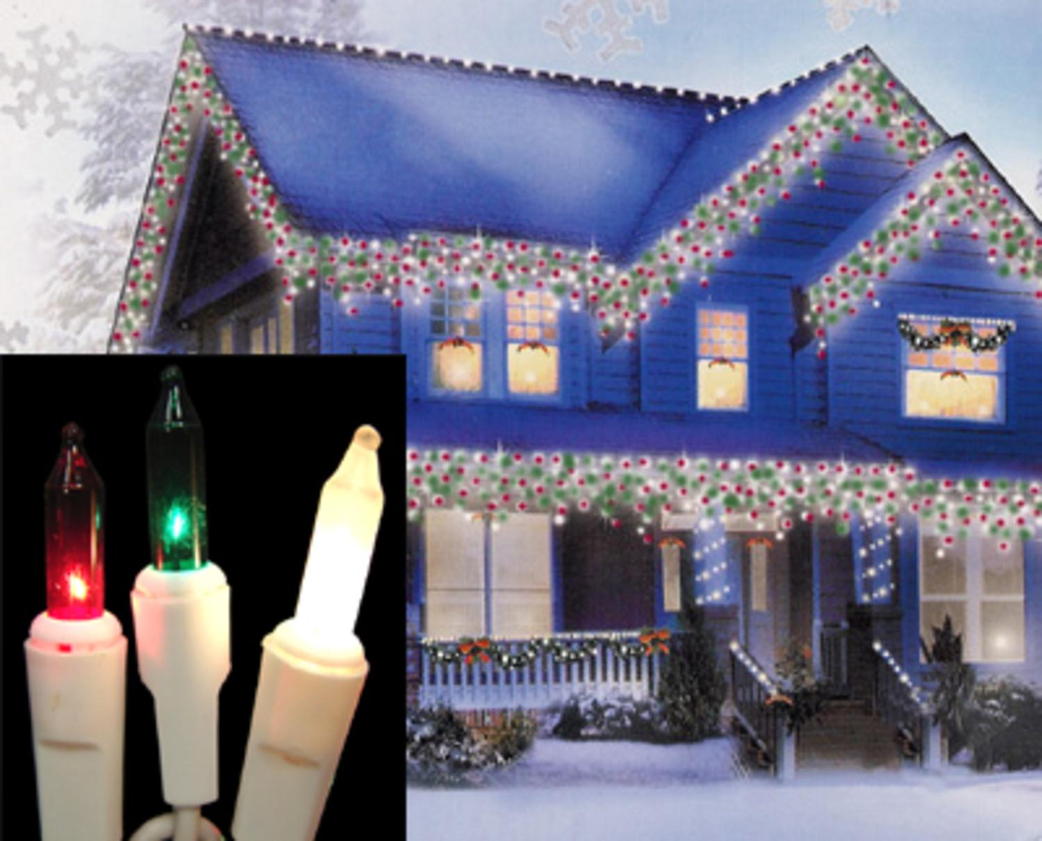 set of 100 red green frosted white mini icicle christmas lights white wire walmartcom