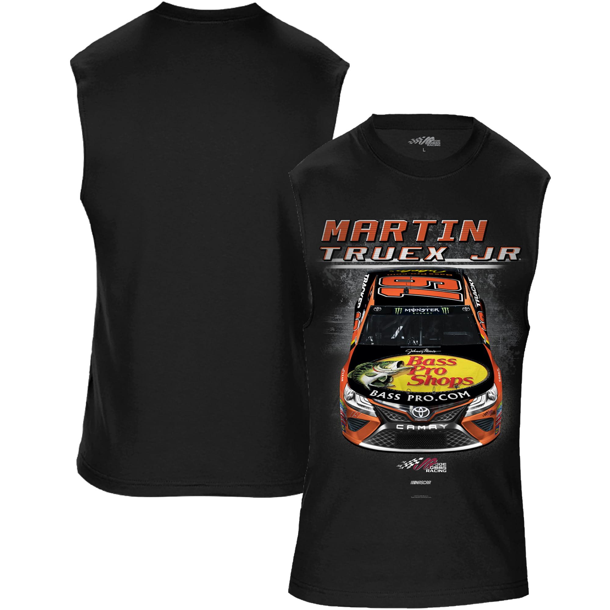 Martin Truex Jr Joe Gibbs Racing Team Collection Bass Pro Shops Muscle T-Shirt - Black