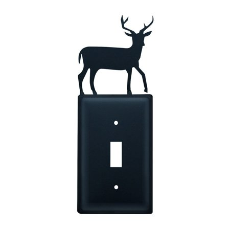 ES 3 Deer Single Switch Electric Cover Material is Iron By Village Wro