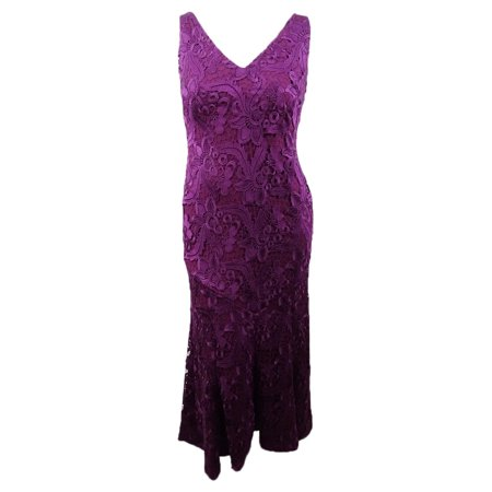 Exotic Dancer Gowns (Lauren Ralph Lauren Women's Floral-Lace Gown (12, Exotic Ruby))
