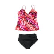 MiracleSuit Womens IKAT Print Brief 2 Piece Tankini