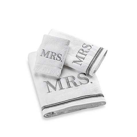 CRC Mrs. Embroidered Towel Set