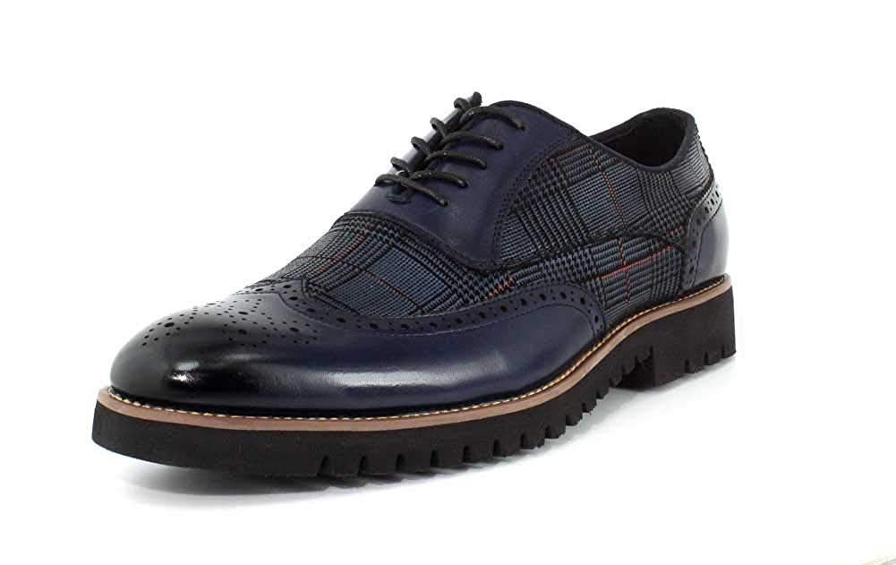 Baxley Wingtip Lace Up Oxford Ink Blue