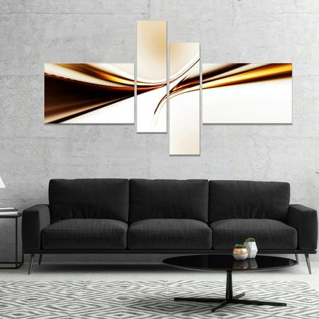 DESIGN ART Designart 'Dynamic Golden Waves' Abstract Canvas art print 60 in. wide x 32 in. high - 4 -
