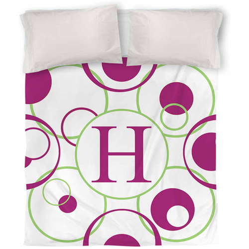 IDG Circle Variations Monogram Duvet Cover, Bright