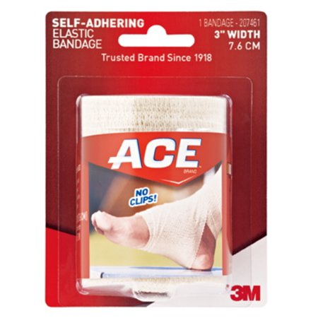 ACE Self-Adhering Elastic Bandage, 3 in, Beige, 1 bandage/pack