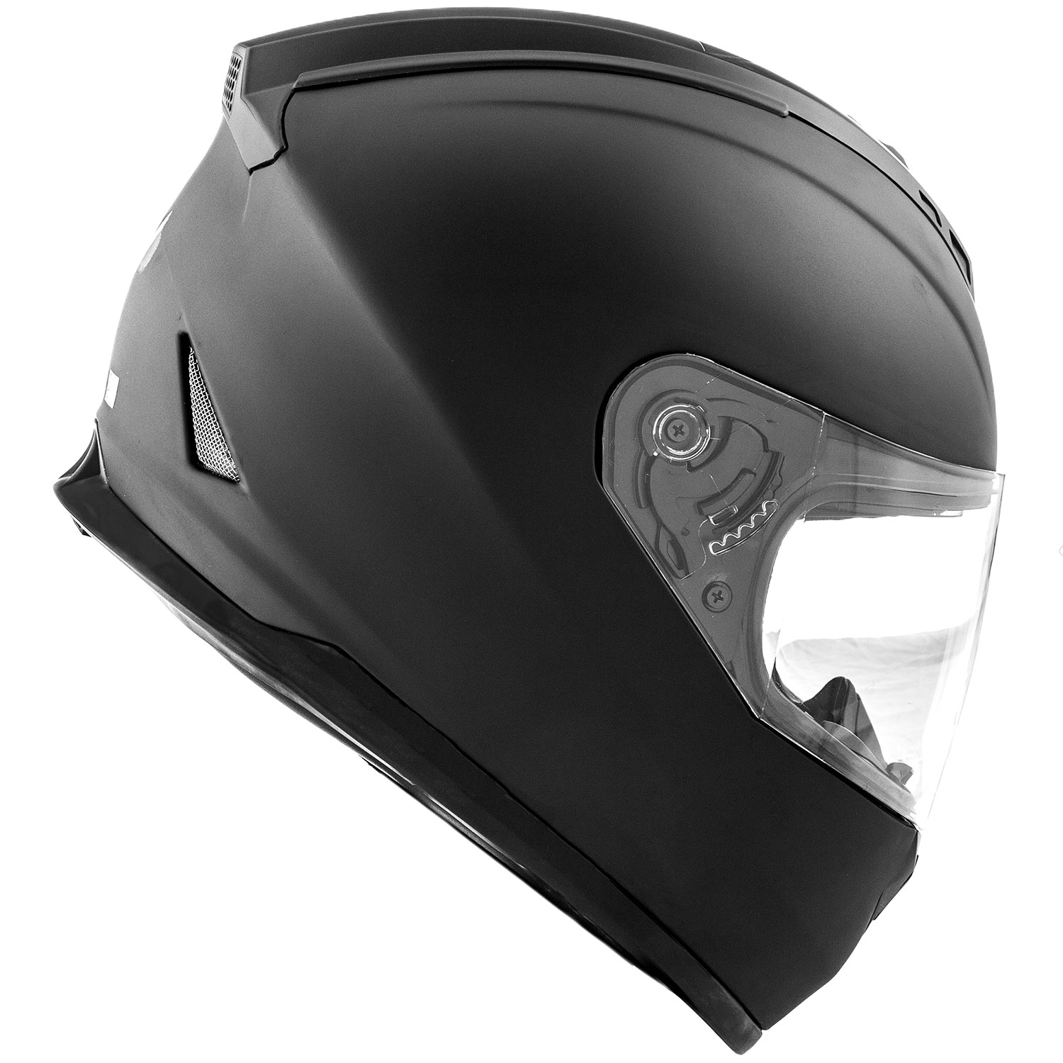 Dot Motorcycle Helmet Full Face Koi Matte Black W Clear