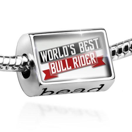 Bead Worlds Best Bull Rider Charm Fits All European