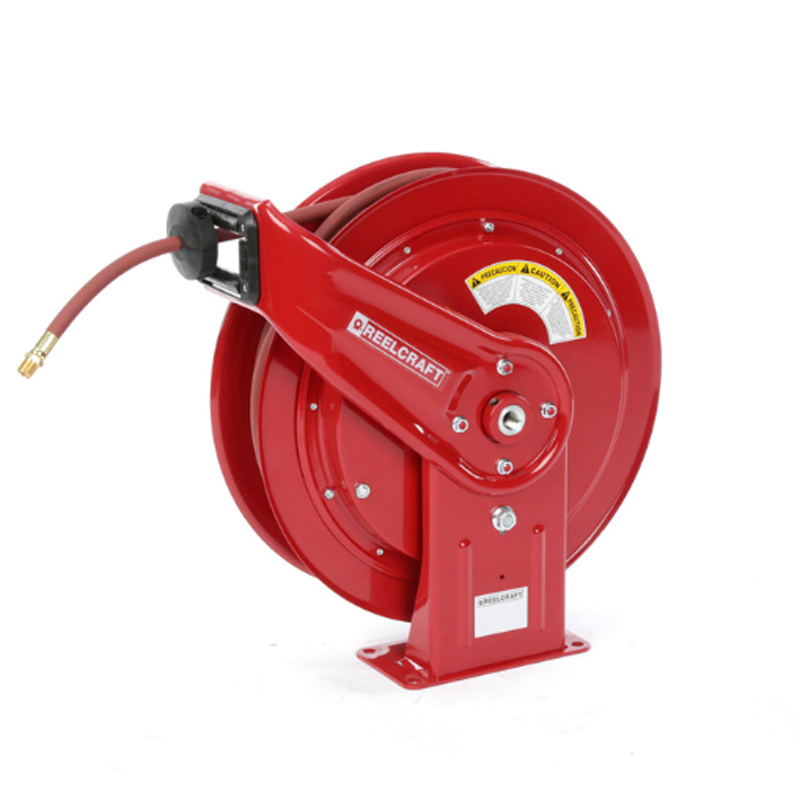 """Reelcraft HD76075-OLP-HTH 3 8"""" x 75ft High Operating Temperature Hose Reel w  Hose by Reelcraft"""