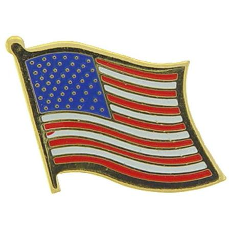 American Flag Wavy Pin 1