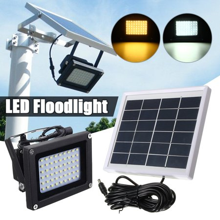 54 Led Solar Flood Light Sensor Lamp Wall Security Night Outdoor For Garden Pathway Driveway Dusk To Dawn