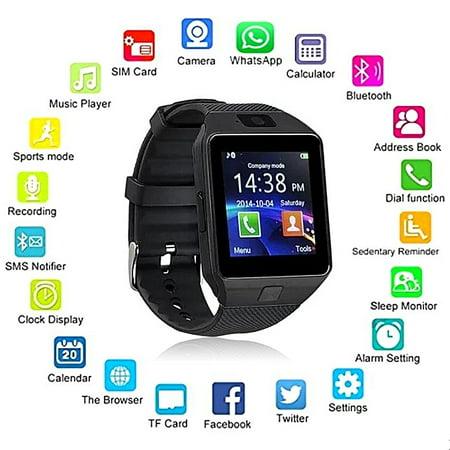 1daa5e69a0fe DZ09 Bluetooth Smart Watch - Aeifond Touch Screen Smart Wrist Watch  Smartwatch Phone Fitness Tracker with Camera Pedometer SIM ...