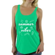 Awkward Styles Summer Vibes Women Racerback Tank Top Vacay Mode Shirt Vacation Shirts Summer Beach Tank Top Summer Hawaiian Racerback Top Cute Gifts for Summer Beach Party Outfit