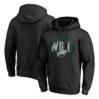 Minnesota Wild Fanatics Branded Arch Smoke Pullover Hoodie - Black