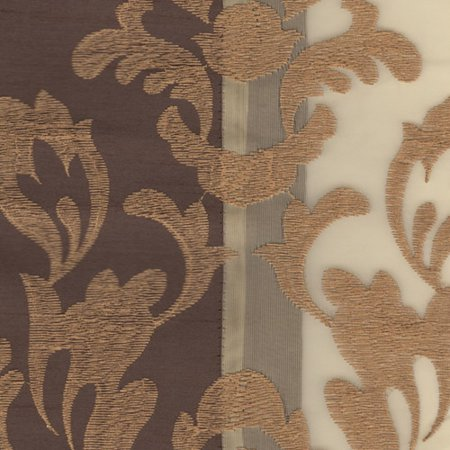 Danbury Embroidered Pieced Voile Faux Silk Polyester Curtain