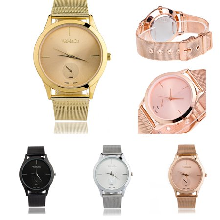 FeelinGirl Women's Analog Quartz Rose Gold Watch with Stainless Steel Mesh Strap Ladies Watch Simple and Elegant