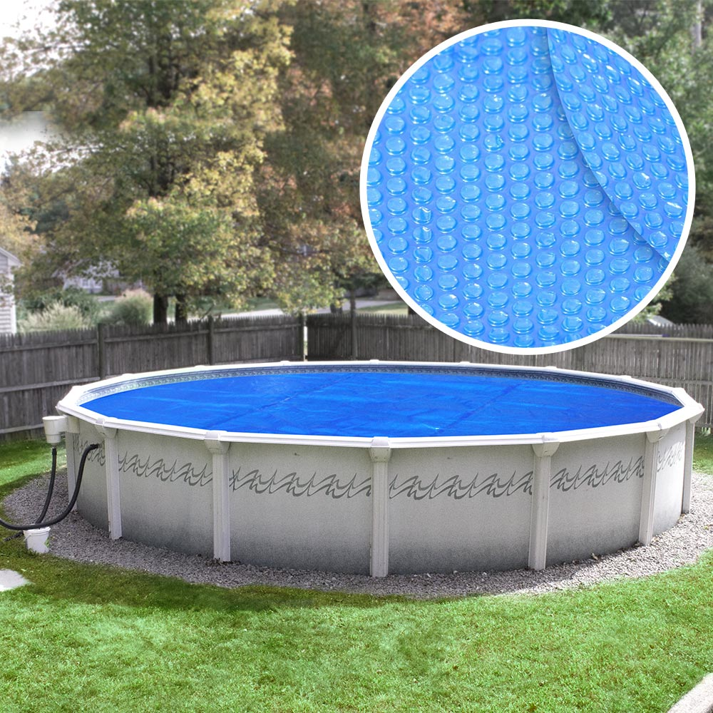 above ground pool solar covers. Robelle Heavy-Duty Solar Cover For Above Ground Swimming Pools, 12-Foot Pools Pool Covers