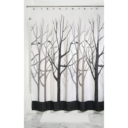 Interdesign Forest Fabric Shower Curtain Various Sizes