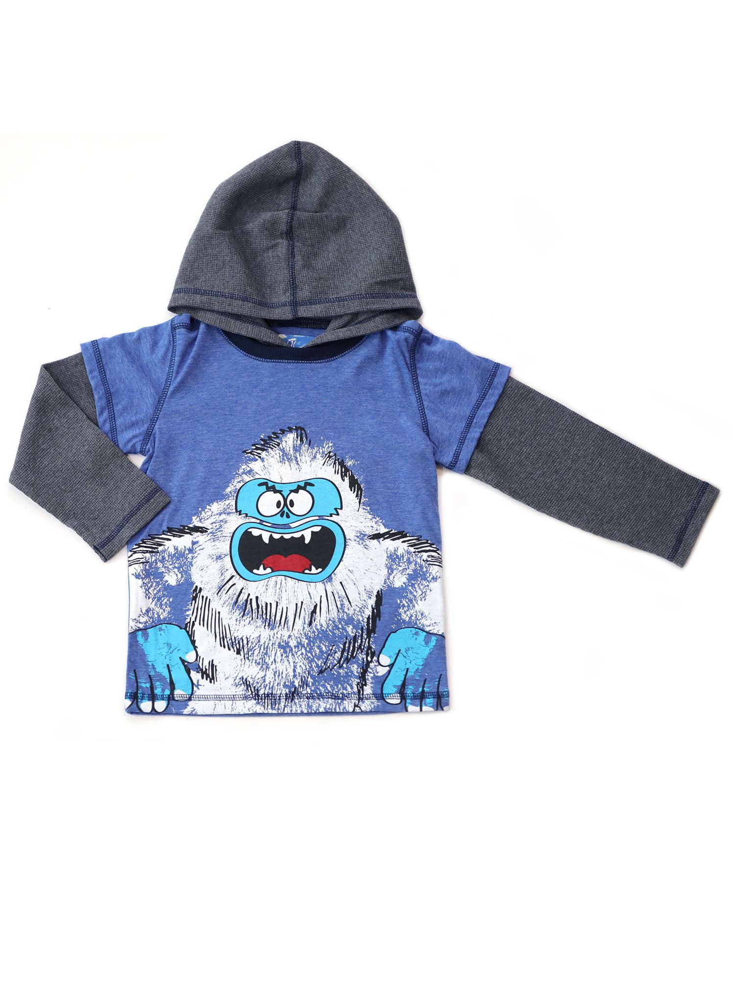 Kapital K Yeti Hooded Layered Long Sleeve T-shirt (Baby Boys and Toddler Boys)