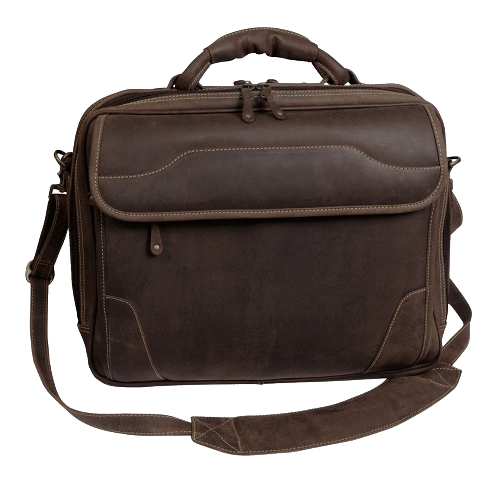 "Canyon Outback Dakota Pines 15"" Leather Computer Briefcase"