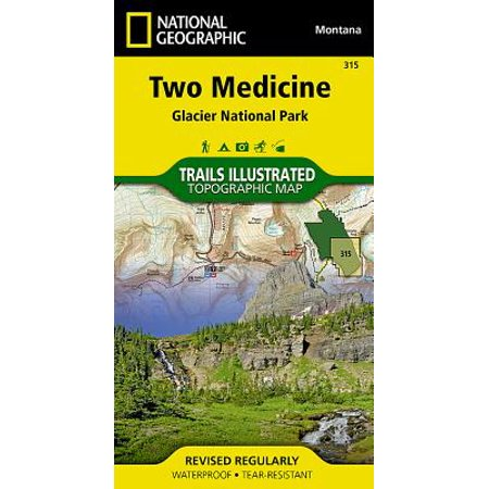 National geographic maps: trails illustrated: two medicine: glacier national park - folded map: