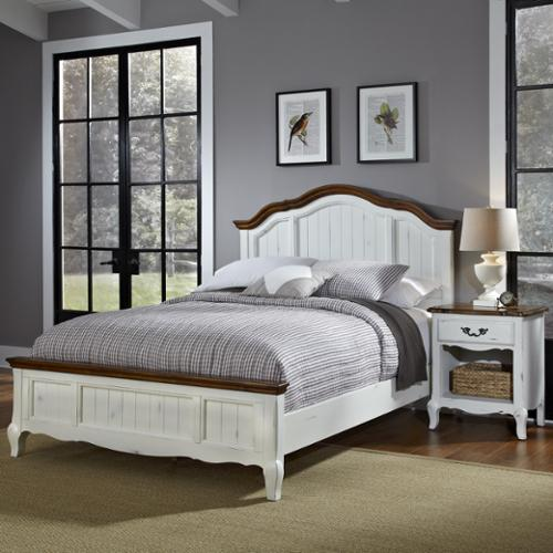 Home Styles  The French Countryside Queen Bed and Night Stand