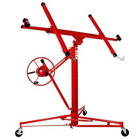 artist hand 11' drywall lift rolling panel hoist jack lifter construction caster wheels lockable tool red (Jack Caster Wheel)