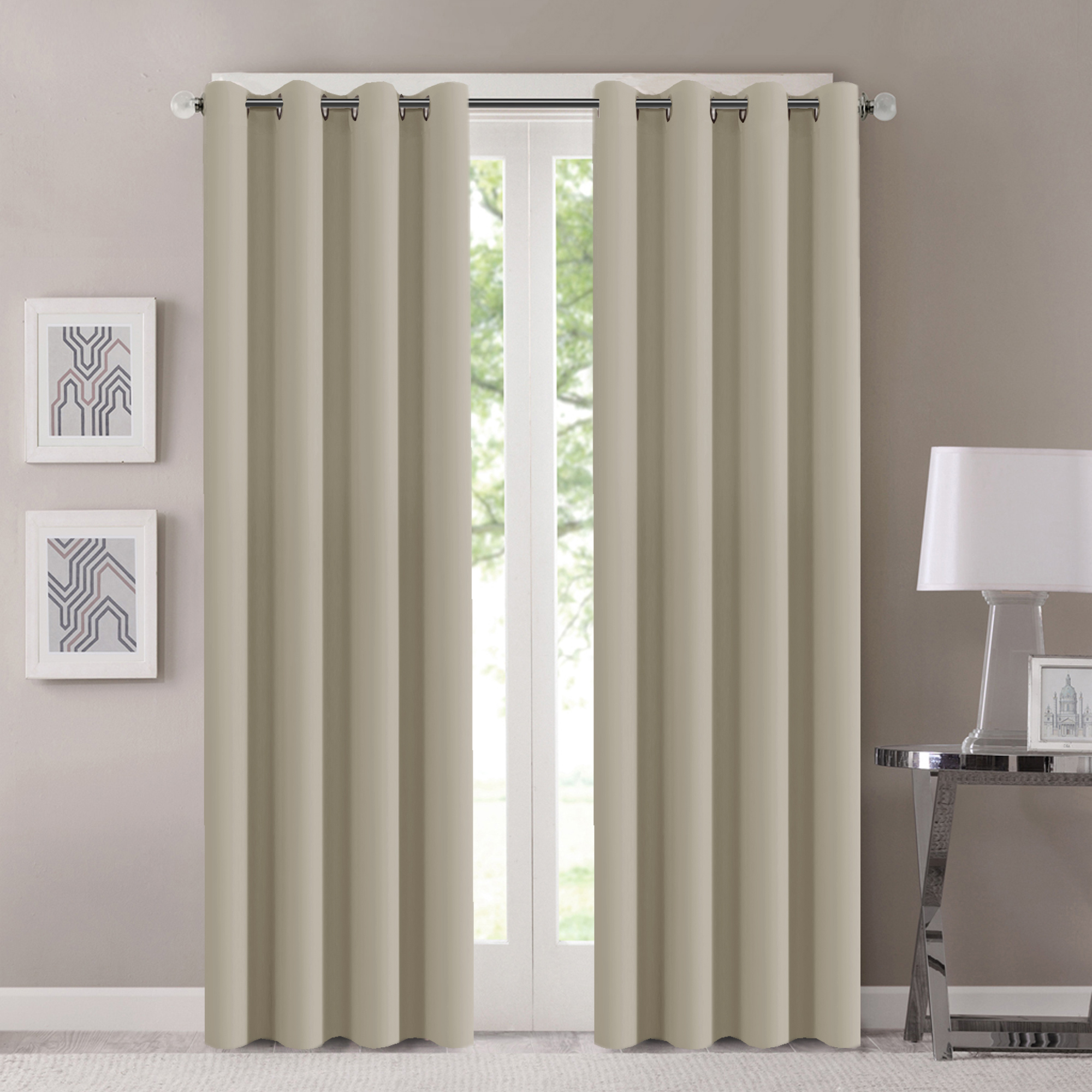 H.Versailtex Window Treatment Energy Saving Thermal Insulated Solid Grommet  Blackout Curtains /Drapes For