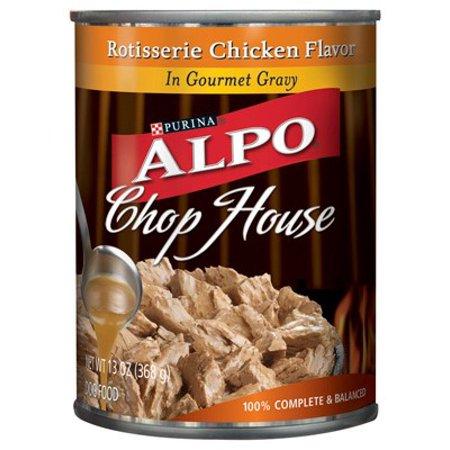 Purina ALPO Chop House Rotisserie Chicken Flavor in Gourmet Gravy Wet Dog Food, 13 oz