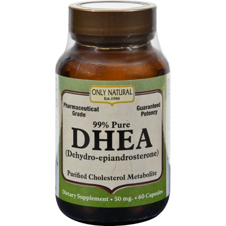ONLY NATURAL DHEA - 50 mg - 60 Capsules - (pack de 2)