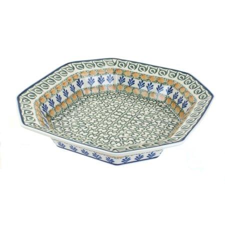 - Polish Pottery Herb Garden Small Octagonal Dish