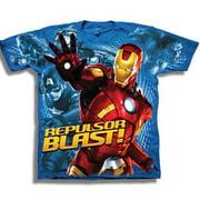 Iron Man Avengers Repulsor Blast Marvel Comics Movie Youth T-Shirt Tee