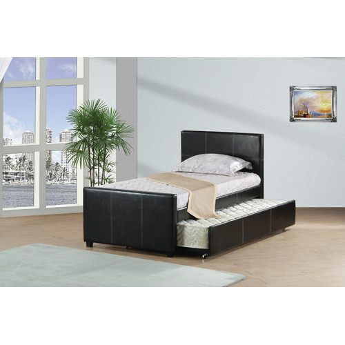 Best Quality Furniture Twin Panel Bed with Trundle