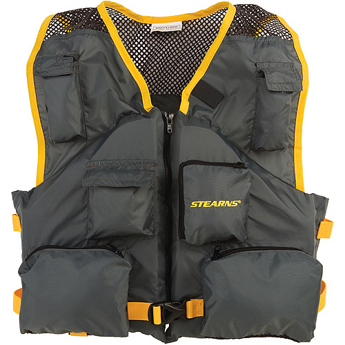 Stearns Deluxe Fishing Vest - Charcoal - Walmart.com