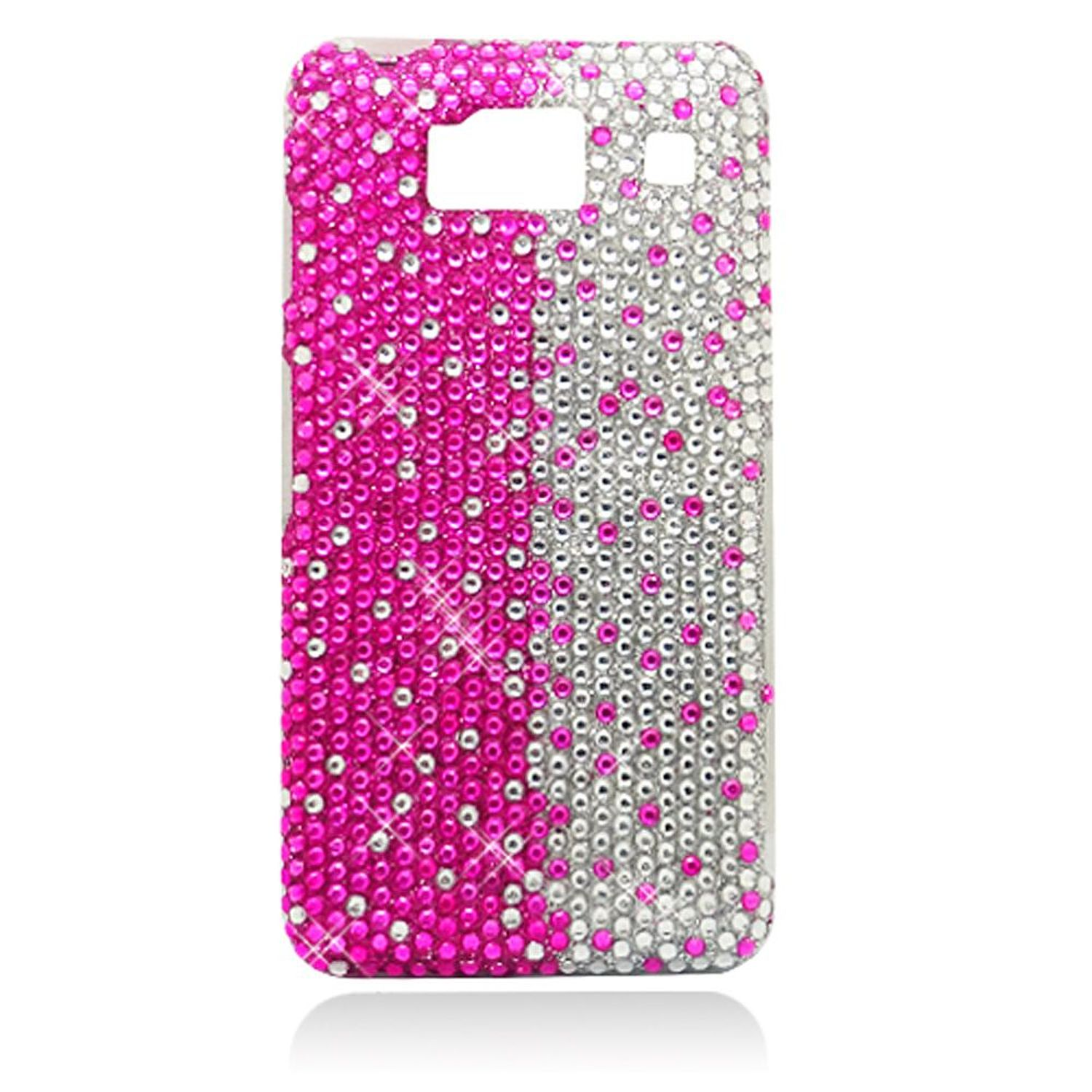 Motorola Droid Razr HD case, by Insten Rhinestone Diamond Bling Hard Snap-in Case Cover For Motorola Droid Razr HD XT926, Hot Pink/Silver