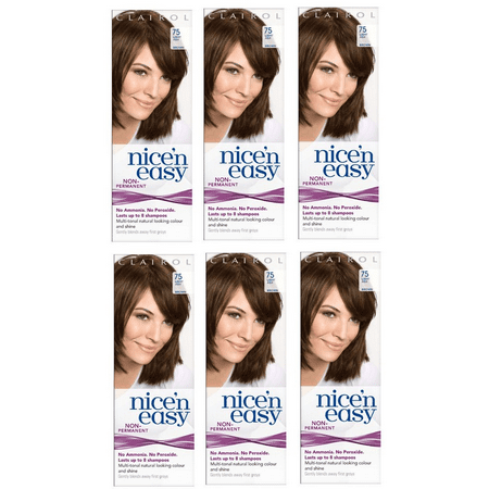 Clairol Nice n' Easy Hair Color #75 Light Ash Brown (Pack of 6) UK Loving Care + Schick Slim Twin ST for Dry Skin](St Pattys Day Hair)