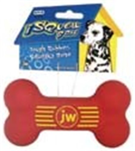 JW Pet Company iSqueak Bone Rubber Dog Toy, Medium, Colors Vary