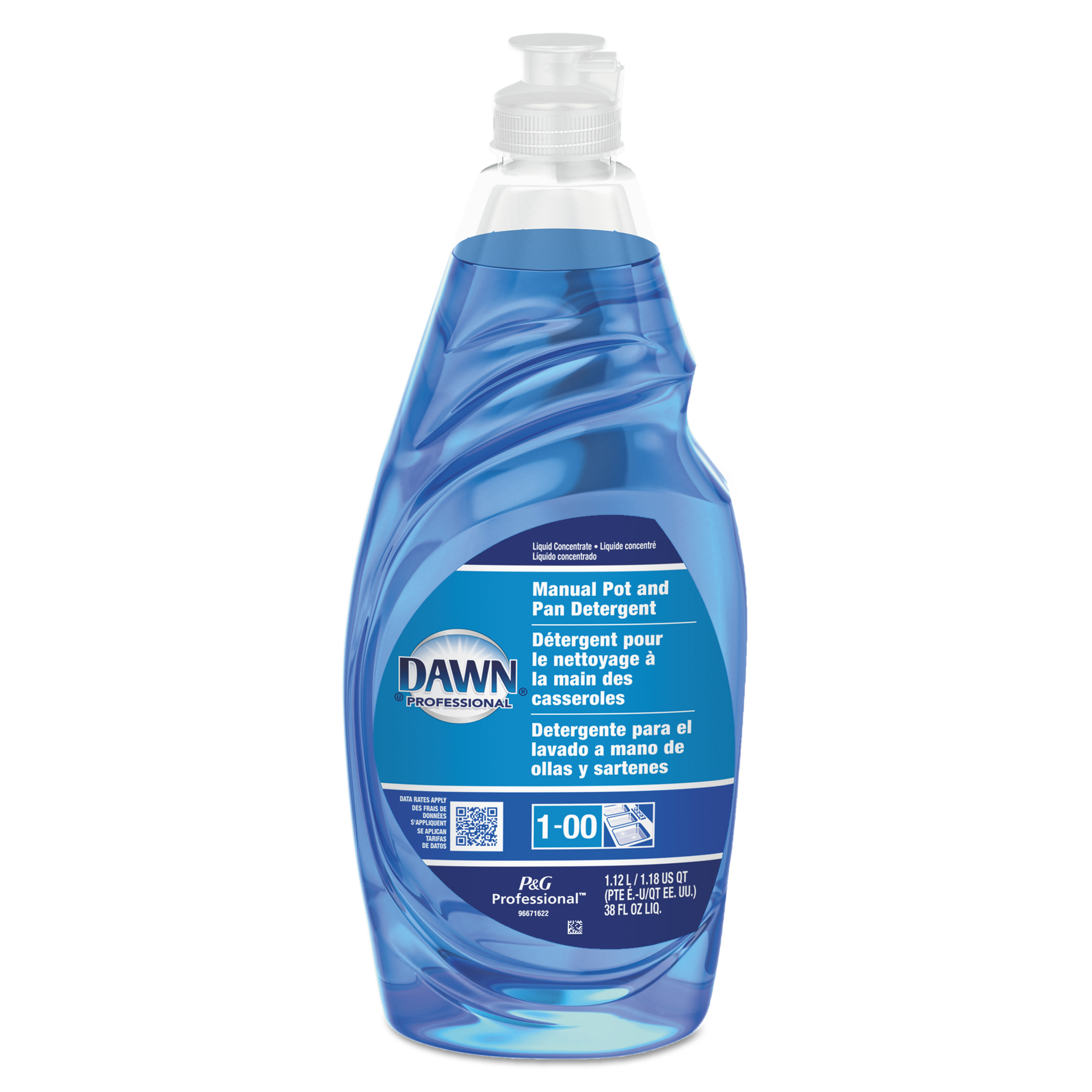 Dawn Professional Manual Pot & Pan Dish Detergent, 38 oz Bottle