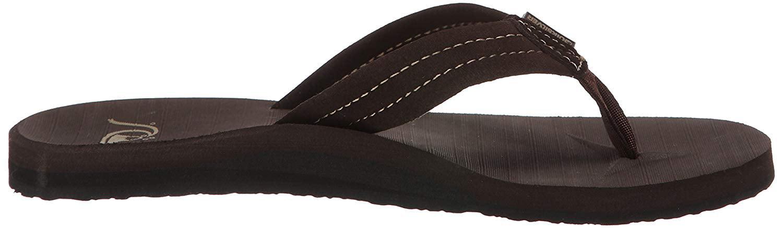 Demitasse//Solid Quiksilver Mens Carver Suede 3-Point Flip Flop Sandal Athletic 13 M US