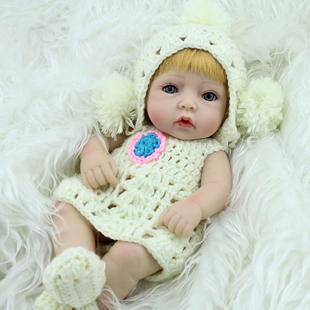 28cm unique yellow hair reborn baby doll soft vinyl