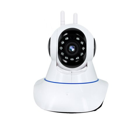 1MP Security Camera Wireless WiFi Home IP Security Surveillance System Indoor PTZ Night Vision Camera Monitor (US Plug)