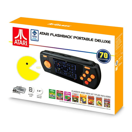 Atari Flashback Portable Deluxe Edition Bonus Av Cable Hand Held Console   New 2017