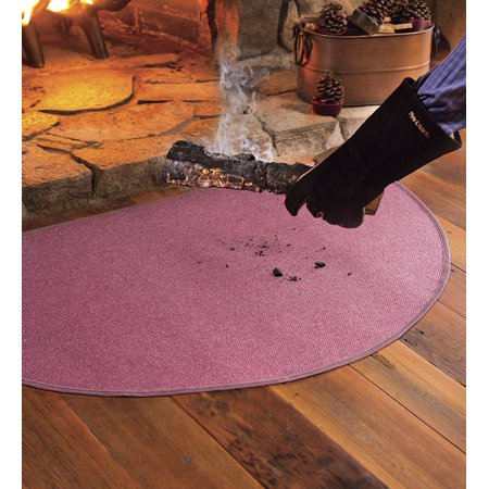 Flame-Resistant Half-Round Hearth Fireproof Rug ()