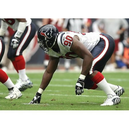 Laminated Poster Action Football Professional Player Defensive End Poster Print 11 x