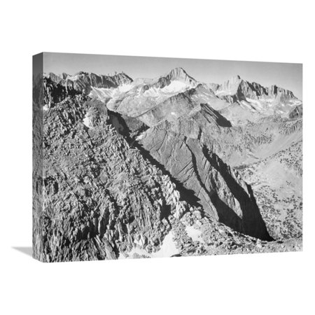 King Gallery - Global Gallery Mt. Brewer Kings River Canyon National Park California 1936 Wall Art