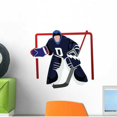 - Playing Hockey Goalie Wall Decal Sticker, Wallmonkeys Peel & Stick Vinyl Graphic (12 in W x 8 in H)