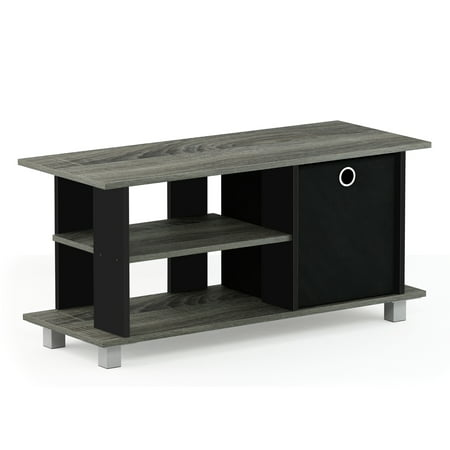 Furinno Simplistic TV Entertainment Center with Bin, Multiple